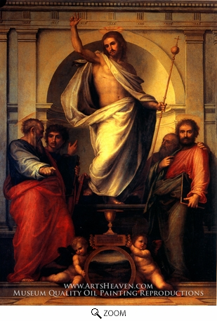 Painting Reproduction of Resurrected Christ with Saints, Fra Bartolommeo