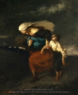 Retreat from the Storm painting reproduction, Jean-Francois Millet