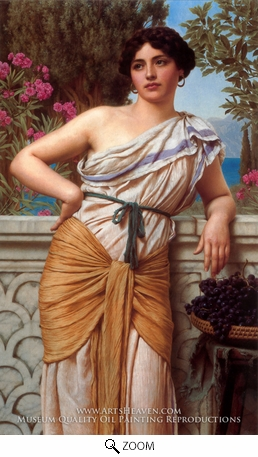 Painting Reproduction of Reverie 1912, John William Godward