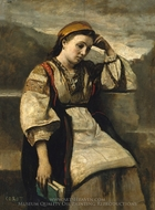 Reverie painting reproduction, Jean-Baptiste Camille Corot