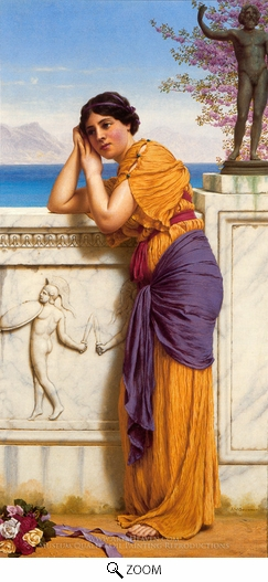 Painting Reproduction of Rich Gifts Wax Poor When Lovers Prove Unkind, John William Godward