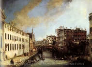 Rio dei Mendicanti: Looking South painting reproduction, Canaletto