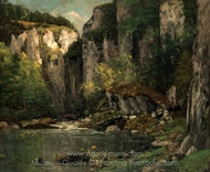 River and Rocks painting reproduction, Gustave Courbet