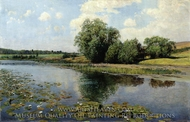 River in Midday painting reproduction, Ilya Ostroukhov