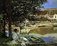River Scene at Bennecourt by Claude Monet