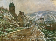 Road to Vetheuil in Winter by Claude Monet