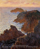 Rocks at Belle-Ile, Port-Domois by Claude Monet
