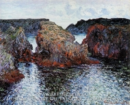 Rocks at Port Goulphar Belle Ile by Claude Monet