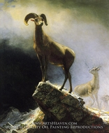 Rocky Mountain Sheep by Albert Bierstadt