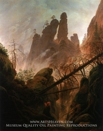 Rocky Ravine by Caspar David Friedrich