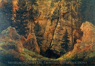 Rocky Valley (The Tomb of Arminius) painting reproduction, Caspar David Friedrich