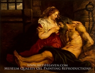 Roman Charity painting reproduction, Peter Paul Rubens