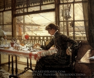 Room Overlooking the Harbour painting reproduction, James Tissot