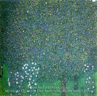 Rose Bushes under the Trees by Gustav Klimt