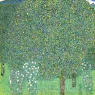 Rose Bushes under the Trees painting reproduction, Gustav Klimt