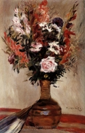 Roses in a Vase painting reproduction, Pierre-Auguste Renoir