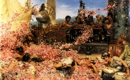 Roses of Heliogabalus painting reproduction, Sir Lawrence Alma-Tadema