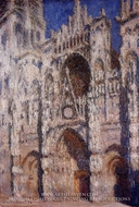 Rouen Cathedral, Afternoon Effect by Claude Monet