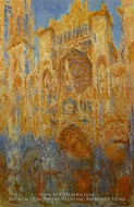 Rouen Cathedral at the End of Day, Sunlight Effect by Claude Monet