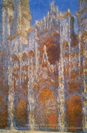 Rouen Cathedral, Sunlight Effect by Claude Monet
