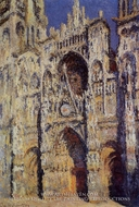 Rouen Cathedral, the Portal and the Tour d'Albane, Full Sunlight by Claude Monet