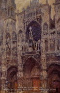 Rouen Cathedral, the Portal, Grey Weather by Claude Monet