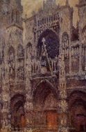 Rouen Cathedral, the Portal, Grey Weather painting reproduction, Claude Monet