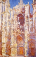 Rouen Cathedral, the Portal in the Sun painting reproduction, Claude Monet