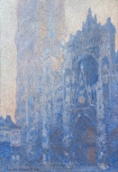 Rouen Cathedral, the Portal, Morning Effect painting reproduction, Claude Monet