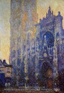 Rouen Cathedral, the Portal, Morning Effect by Claude Monet