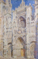 Rouen Cathedral: The Portal (Sunlight) painting reproduction, Claude Monet