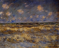 Rough Sea painting reproduction, Claude Monet