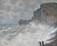 Rough Weather at Etretat painting reproduction, Claude Monet