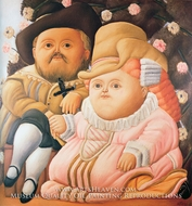 Rubens and His Wife painting reproduction, Fernando Botero
