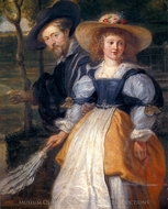 Rubens and Isabella Brant painting reproduction, Peter Paul Rubens