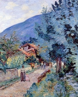 Rue de la Scierie, Pontcharra by Armand Guillaumin