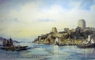 Rumeli Fortress painting reproduction, Amedeo Preziosi