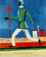 Running Man by Kasimir Malevich