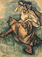 Russian Dancer painting reproduction, Edgar Degas
