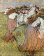 Russian Dancers painting reproduction, Edgar Degas