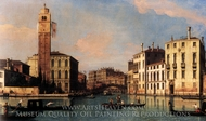 S. Geremia and the Entrance to the Cannaregio painting reproduction, Canaletto