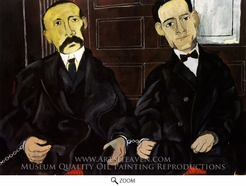 Painting Reproduction of Sacco and Vanzetti, Ben Shahn
