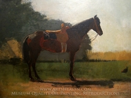 Saddle Horse in Farm Yard painting reproduction, Winslow Homer