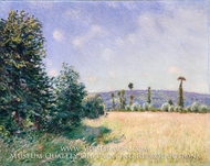 Sahurs Meadows in Morning Sun by Alfred Sisley
