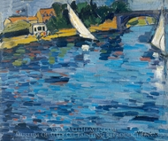 Sails at Chatou painting reproduction, Maurice De Vlaminck