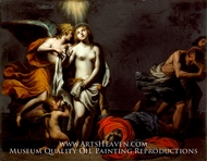 Saint Agnes Protected by an Angel painting reproduction, Alessandro Turchi