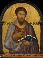 Saint Bartholomew painting reproduction, Simone Martini