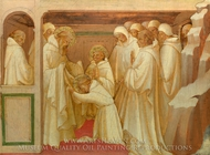 Saint Benedict Admitting Saints into the Order painting reproduction, Lorenzo Monaco