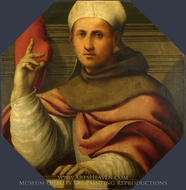 Saint Bonaventure painting reproduction, Giovanni Antonio Pordenone