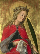 Saint Catherine painting reproduction, Giorgio Schiavone